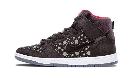 Nike Herren SB Dunk High Premium Skate Schuhe Schwarz / Schwarz-valient Rot
