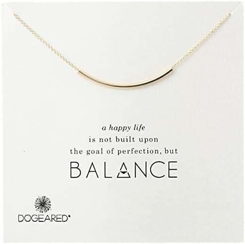 Dogeared Balance Tube Bar Necklace, 18