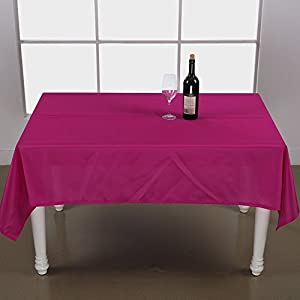Deconovo Solid Oxford Decorative Square Water Resistant Tablecloth For  Dining Room, 54x54 Inch, Rose