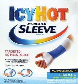 Icy Hot Extra Strength Ankle, Wrist & Elbow Medicated Pain Relieving Sleeve-3, count (Icy Hot Sleeve)