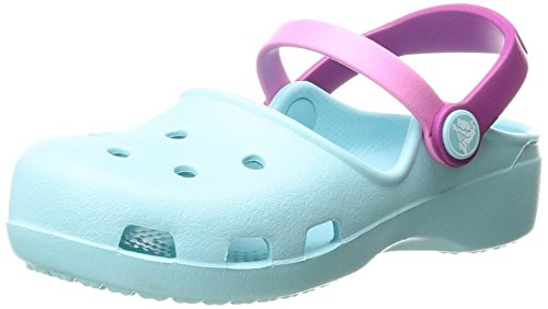 Crocs Girls' Karin K Clog, Ice Blue, 11 M US Little Kid by Crocs