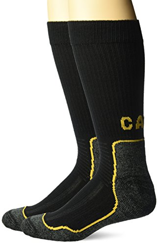 Caterpillar Men's All Weather Sock 2 Pack, Black, Sock Size: 10-13/Shoe Size:9-11 from Caterpillar