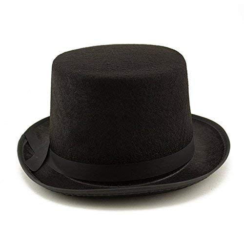 Tytroy Black Magician Top Hat Steampunk Costume Accessories Dress Up Party Hat (1 pc)]()