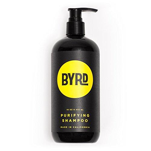 BYRD Purifying Shampoo - Red Algae, Green Tea, Aloe Vera, Sea Kelp, Vitamin B, UV Protection, Mineral Oil Free, Paraben Free, Phthalate Free, Sulfate Free, Cruelty Free, Salty Coconut Scent, 16 Fl Oz