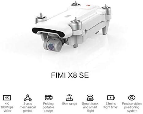 CUEYU Pour Xiaomi FIMI X8 SE Drone 5KM FPV 3 axes cardan 4K caméra GPS Quadcopter 33mins,Version internationale (Blanc)