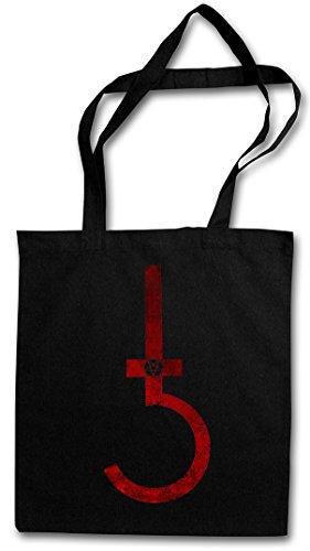 SATANIC CROSS HIPSTER BAG - diablo cruz satánico saturnismo satanism Symbol Pentagram 666 Sign Double Kreuz Church of Satan Devil Satanism Pentacle Symbol Inverted Lucifer Church Demon The Beast