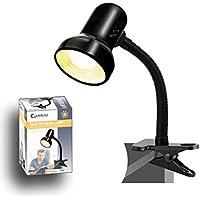 DESK LAMP-CLAMP TYPE BLACK SANSAI