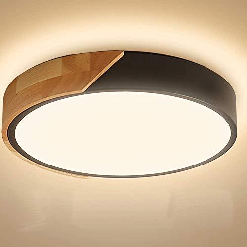 Kambo Led-plafondlamp, 24 W, 2400 lm, warm wit, 3000 K, rond, modern, voor kantoor, slaapkamer, woonkamer, balkon, hal…