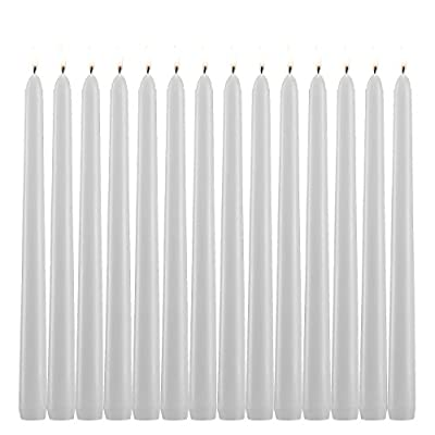 Light In the Dark White Citronella Scented Taper Candles 10 Inch Tall Burn 7 Hours Set of 10