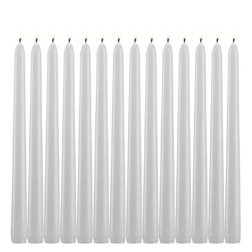 Light In The Dark White Citronella Scented Taper Candles 10 Inch Tall Burn 7 Hours Set of 10 ()