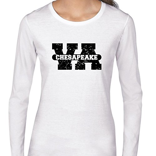 Chesapeake, Virginia VA Classic City State Sign Women's Long Sleeve (Party City Chesapeake Virginia)
