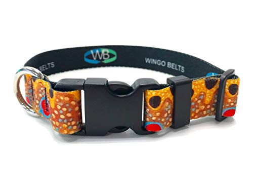 Wingo Belts Dog Collars L/XL Brown Trout