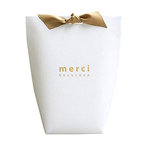 Amazon.com: Candy Favor cajas, de papel rectangular caja de ...