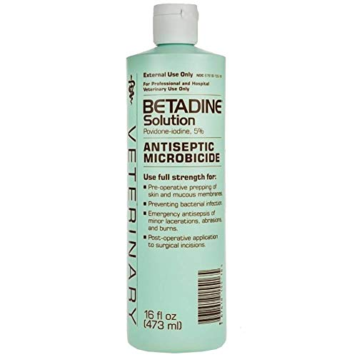 Betadine 16 oz Solution Povidone Iodine 5% Antiseptic Wound Microbicide Pre-Operative Solution Prevents Bacterial Infections