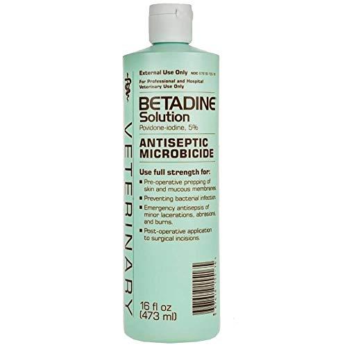 (Betadine 16 oz Solution Povidone Iodine 5% Antiseptic Wound Microbicide Pre-Operative Solution Prevents Bacterial)
