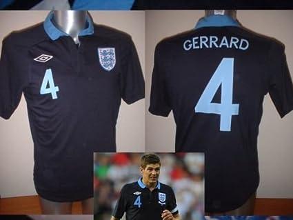 Inglaterra Steven GERRARD camisa camiseta Virgin mediano ...