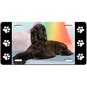 Canine Designs Afghan Hound Aluminum License, Vanity Plate 3