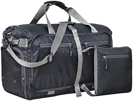 FATMUG Foldable Duffel Luggage Bag for Travel, Packing and Storage – Men and Women – (45 L,Black)
