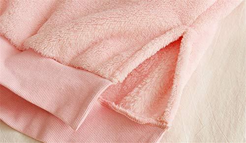 nbsp; Pijama nbsp;sueltos Mujer Sección Pijamas Larga Gruesa Cálida Invierno Para Mmllse De Terciopelo Pink 0RqUwdU