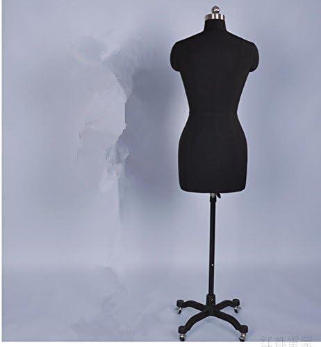 Three-Dimensional Cutting Clothing Display 80 Black + 3.5 kg Tripod Base Student Teaching Female Professional Fashion Dressmaker Dress Form Suitable for Fashion Design