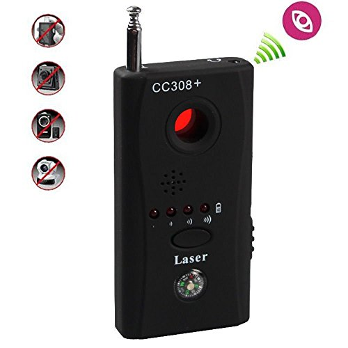 LFLY RF Bug Detector, Wireless Anti Spy Hidden Camera Lens Detector Radio Wave Signal Detect Full-Range GSM Device Finder for Anti Eavesdropping Candid GPS Tracker