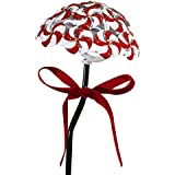 Alpine Corporation QLP1316SLR-2 Solar Peppermint Candy Cane Pathway Holiday Décor, Multicolor