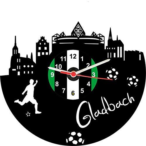 Gravision Gladbach Fan Schallplattenuhr Fu/ßball Fanartikel Wanduhr aus Vinyl