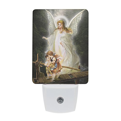 (Saints Collection Unique Guardian Angel Plug In LED Night Light with Automatic Dusk to Dawn Sensor, Devotional Night Light, Religious Gift Idea for Friends and Family )