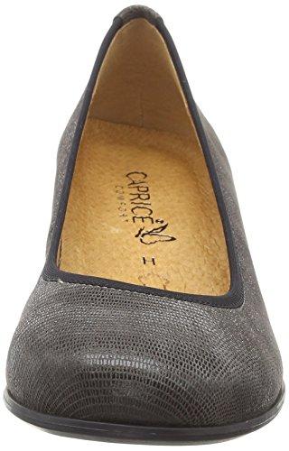 Caprice 22300, Escarpins Femme Gris (Dk Grey Rept. 218)