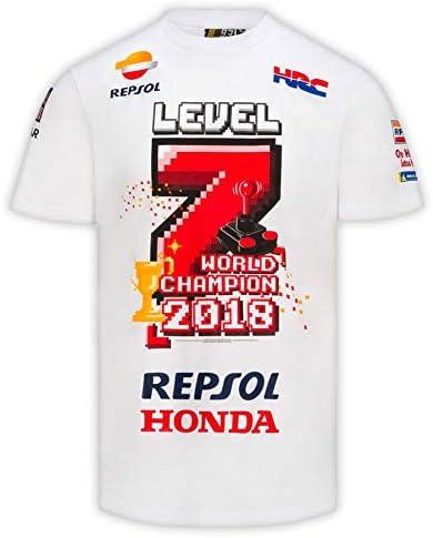 Camiseta Marc Márquez Campeón MotoGP 2018 Level 7 XXL: Amazon.es ...