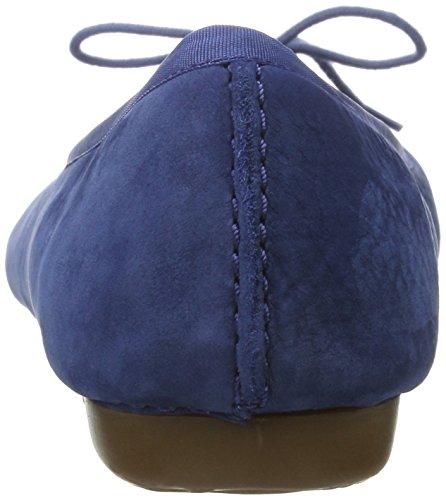 Clarks Freckle Ice, Bailarinas Para Mujer Azul (Dark Blue Nubuck)