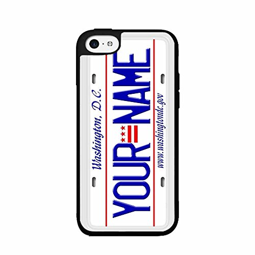 Personalized Custom Washington DC License Plate Plastic Phone Case Back Cover iPhone 4 4s includes BleuReign(TM) Cloth and Warranty Label