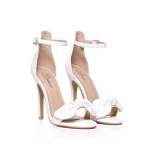 Bow Pu Detailed Onlineshoe SandalAnkle PuPink SuedeWhite Suede Stiletto Strap Black dWeQErCxBo