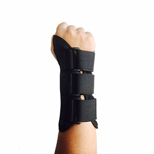 CFR Wrist Support Braces Hand Wraps with Removable Steel Splint for Carpal Tunnel, Tendonitis, Wrist Pain & Sports Injuries Right,S UPS (Removable Splint)