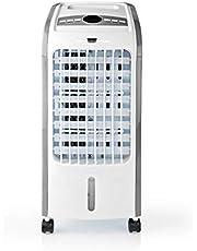Nedis Nedis - Aircooler - Airconditioning - 3 Liter Capaciteit - 270 m³ / h - Krachtig - Efficiënt - Timer - Afstandsbediening - Inclusief twee koelelementen 1.50 m Wit