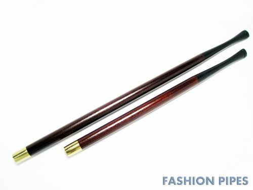 2 Slim Cigarette Holders Women Long Cigarette Holders Set ''Jacqueline Kennedy'' 8.7''/220mm & 6.7''/170mm Fits Slims, Wood Handmade by Fashion Pipes