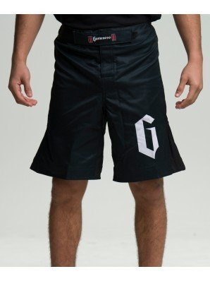 Gameness Strike Shorts for NoGi Jiu Jitsu, MMA, and Grappling (30, Black/Black)