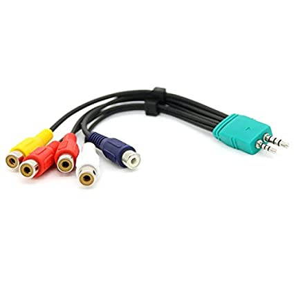2.5mm 3.5mm to 5RCA Audio Cable, VONOTO 15CM 3.5mm + 2.5mm
