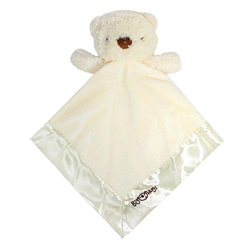 Bear Nursery Hugs (Big Hugs Bubba Bear Blankie With Rattle, Ivory)