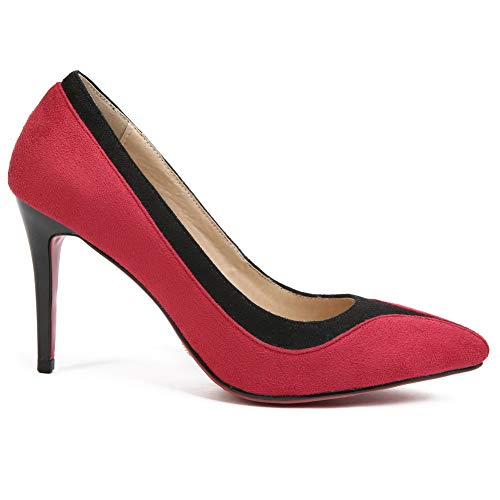 1TO9 Sandales MMS06379 Red Rouge 36 Femme Compensées 5 Zqq85xwr
