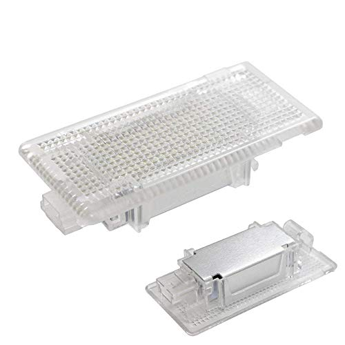 iJDMTOY Full LED Trunk Cargo Area Lamp For BMW 3 5 6 7 Series X1 X5 MINI, OEM Replacement, Powered by 24-SMD Xenon White Lights & CAN-bus Error ()
