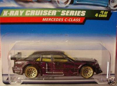 (Mattel Hot Wheels 1999 1:64 Scale X-Ray Cruiser Series Black Mercedes C-Class Die Cast Car 1/4 )