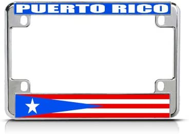 "/""PUERTO RICO/""  FLAG METAL LICENSE PLATE"
