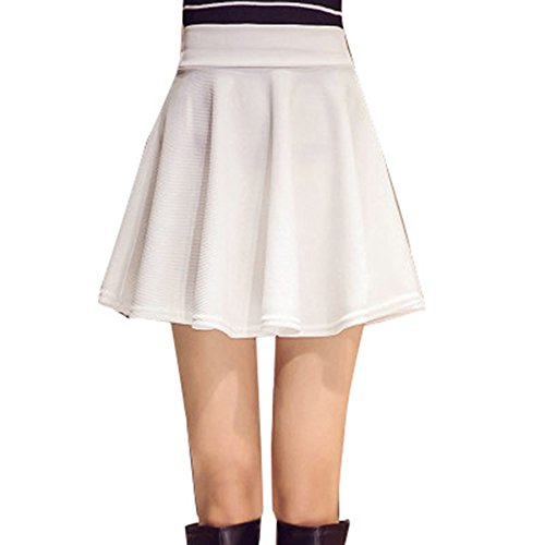 - YoungG-3D Women All Fit Tutu School Short Skirt Pants Summer 6 Colors Mini High Waist Faldas Short White XXXL