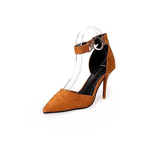 Vestir de Mujer para Amarillo de Shoe Sintético Sandalias qwHAEq6t