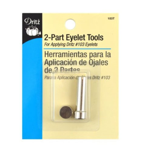 Dritz 103T Eyelet Tools for Applying 2-Part, 5/32-Inch Eyelets