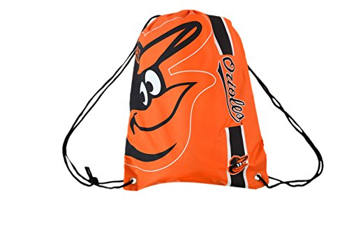 Forever Collectibles Official Major League Baseball Fan Shop Authentic Drawstring MLB Back Sack for Gym Tailgating or School (Baltimore Orioles)