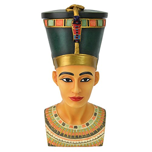 Egyptian Décor Trinket Box - Queen Nefertiti Egyptian Jewelry Box - Goddess Statue
