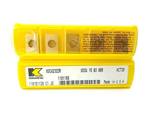 Kennametal XDCW 150308R Hartmetall-Einsätze, Klasse KC730, 5 Stück