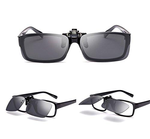 Gafas Hombre de Mujer Las en UK1stChoice Mercurio CLIPON0002 Clip Polarizado Oro Zone Sol Unisex Verde p5Wq8